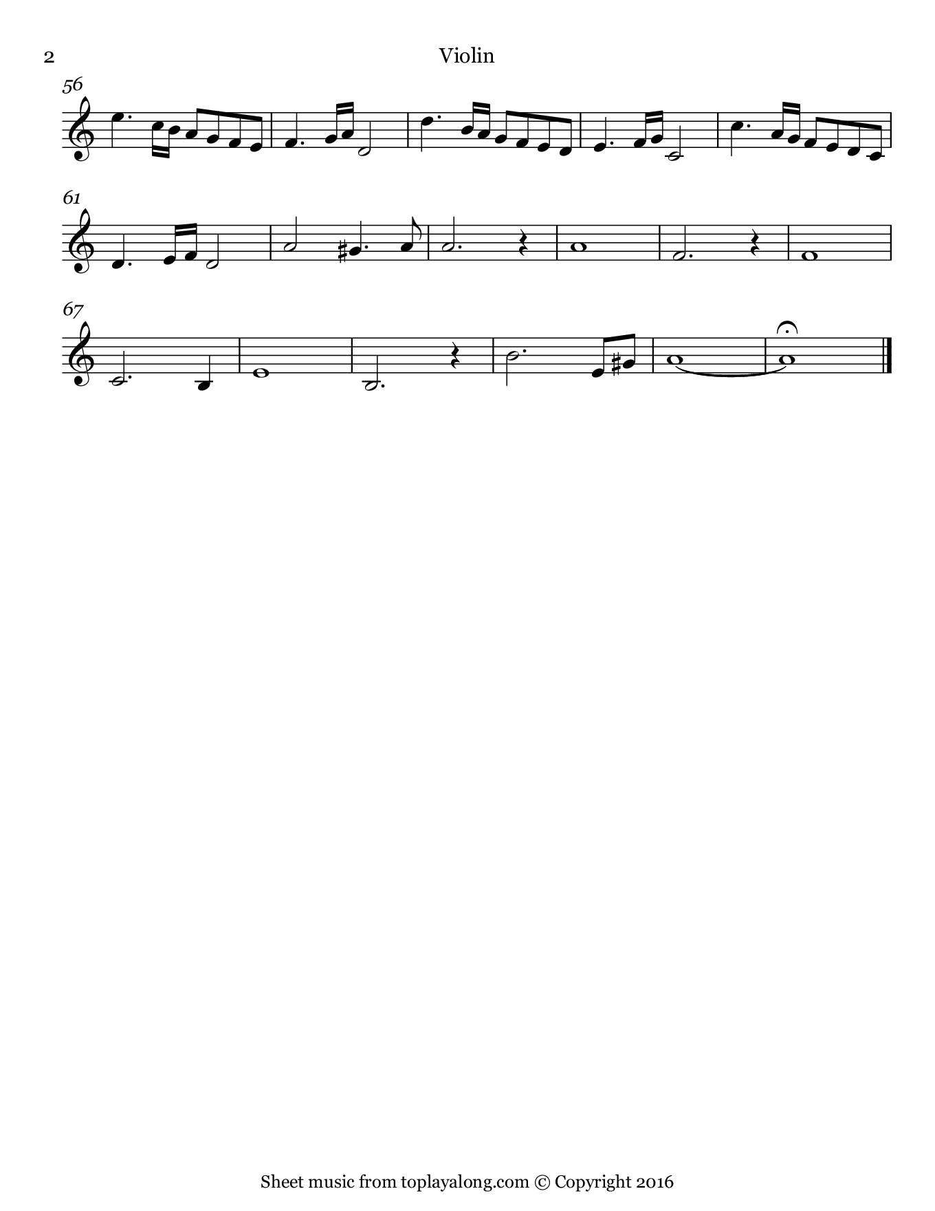 Ave Maria by Vavilov. Sheet music for Violin, page 2.