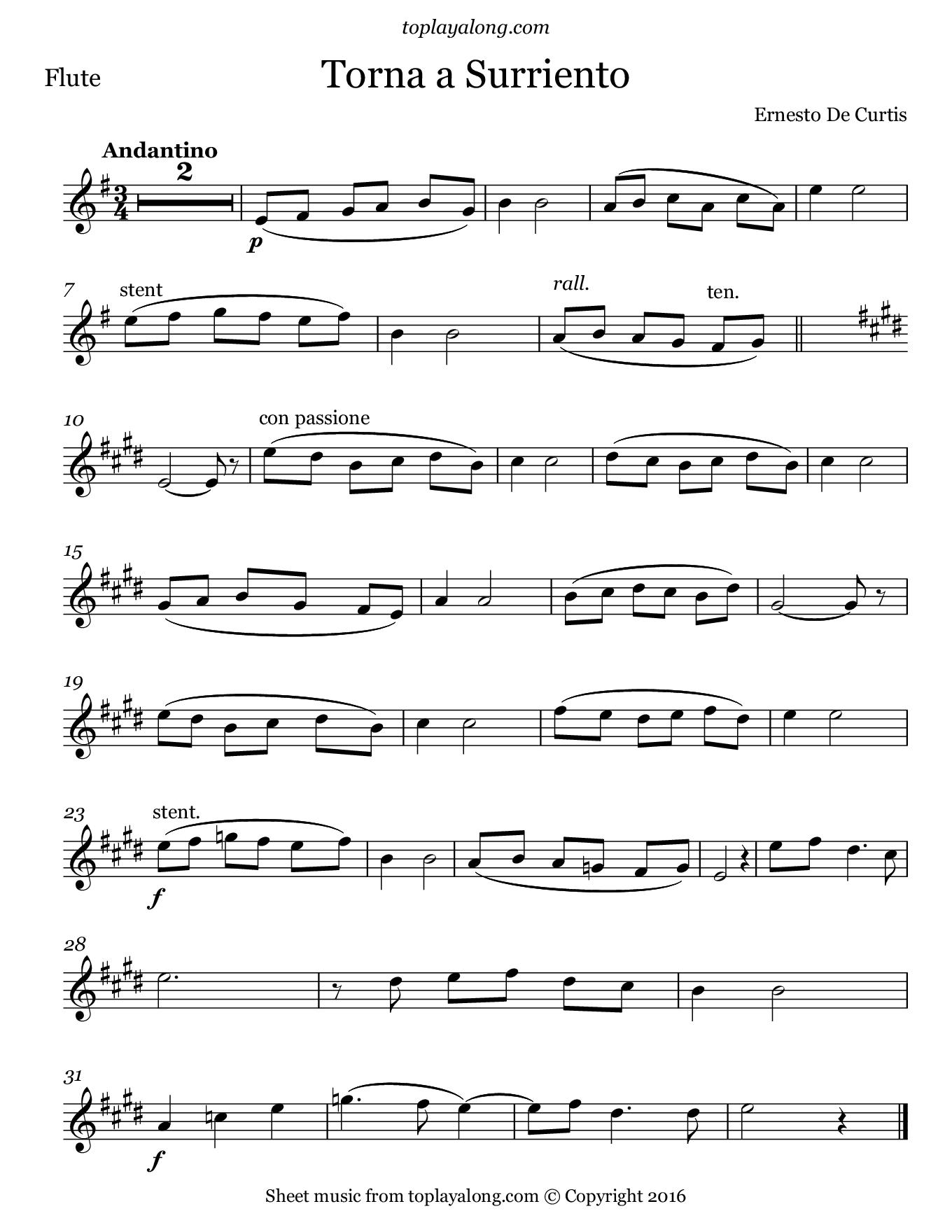 Piano Key Notes Torna A Surriento Toplayalong Com
