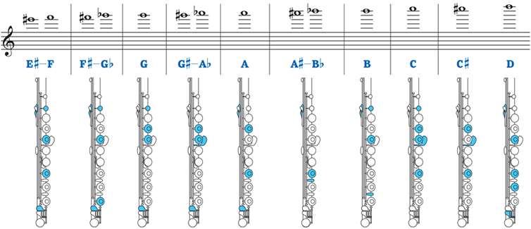 Flute fingering high register