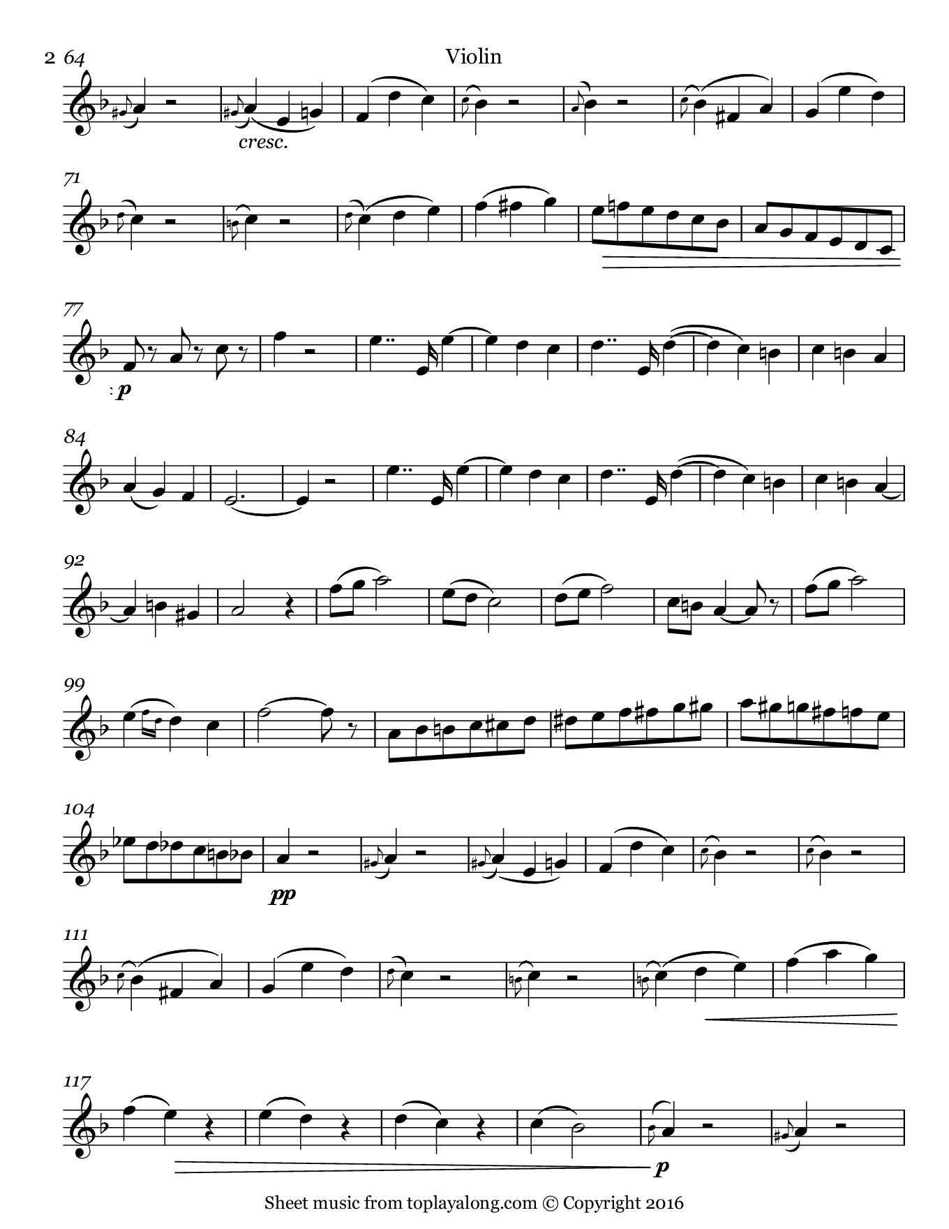 Je veux vivre from Romeo and Juliet by Gounod. Sheet music for Violin, page 2.