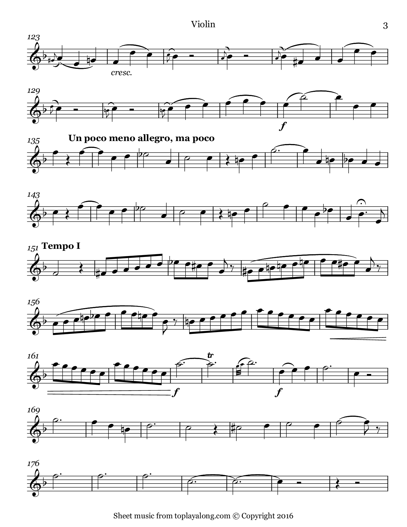 Je veux vivre from Romeo and Juliet by Gounod. Sheet music for Violin, page 3.