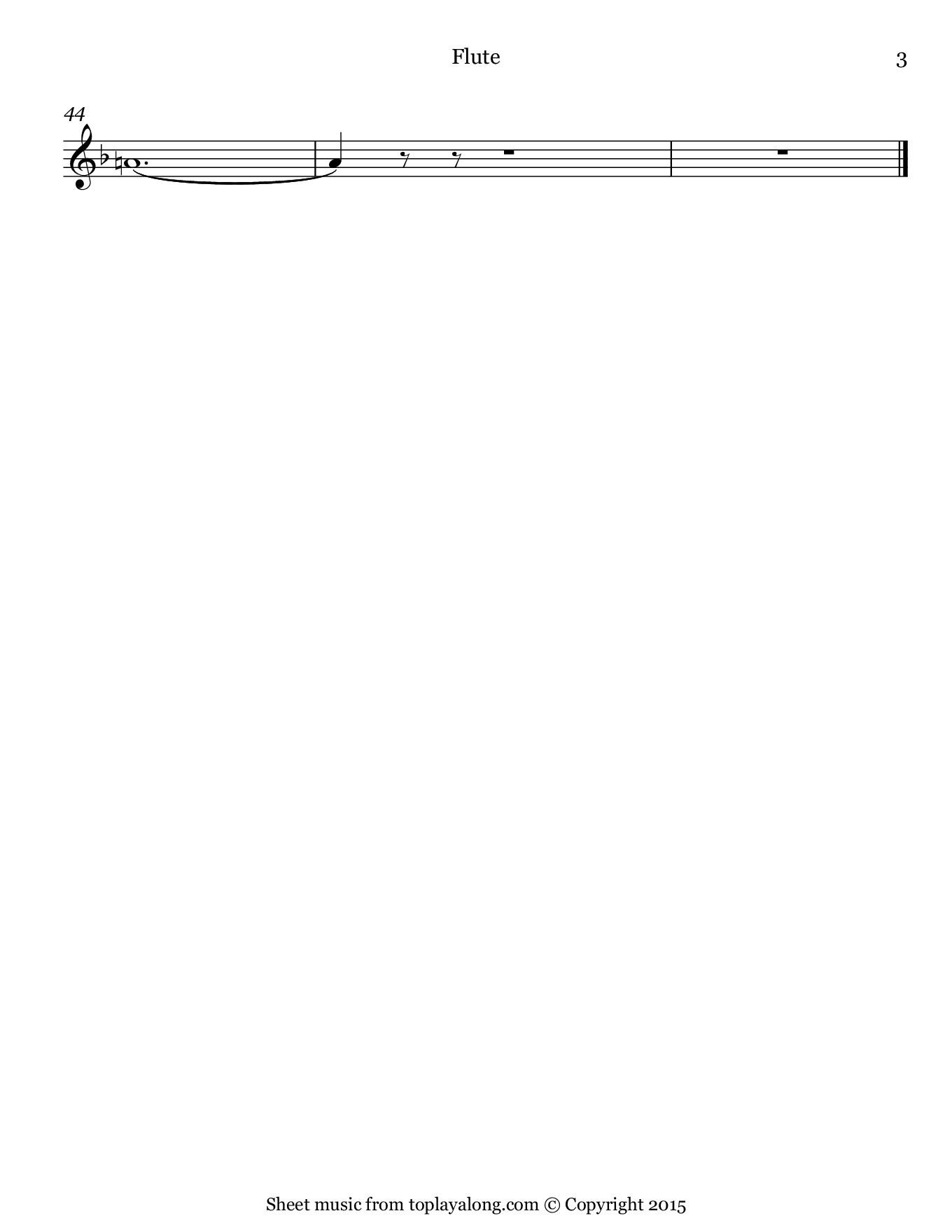 Casta Diva from Norma by Bellini. Sheet music for Flute, page 3.