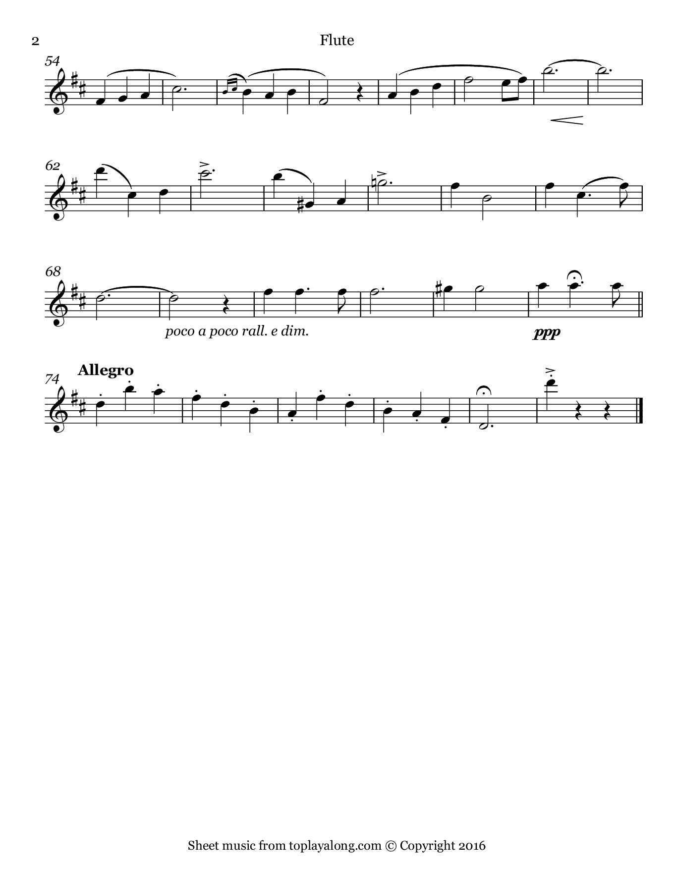 Kiss Me Again from Mlle. Modiste by Herbert. Sheet music for Flute, page 2.