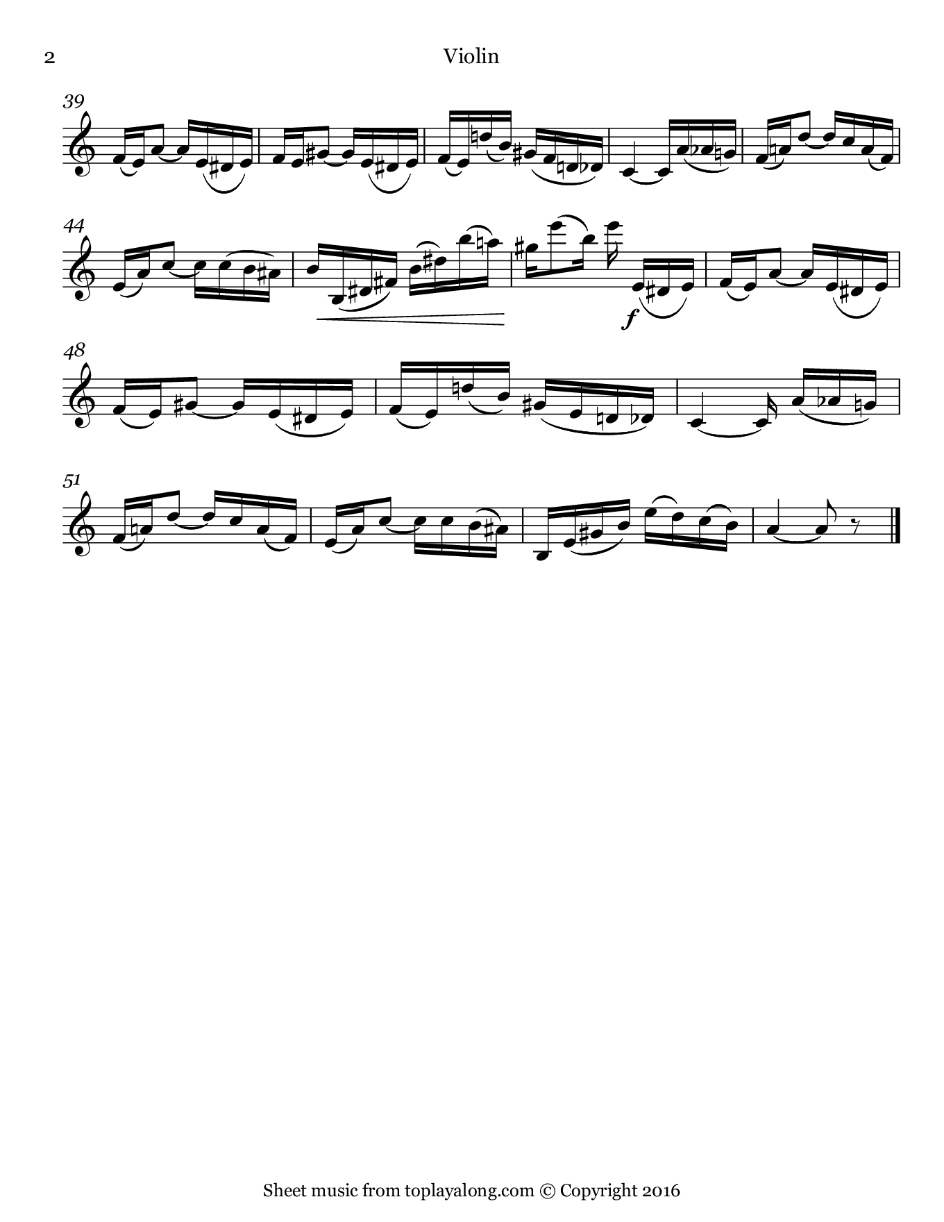 Tico-Tico no Fubá by Abreu. Sheet music for Violin, page 2.