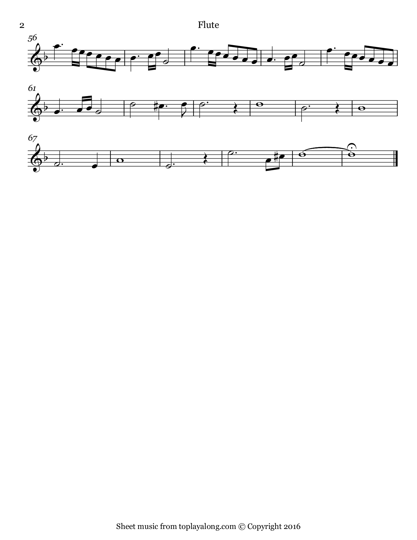 Ave Maria by Vavilov. Sheet music for Flute, page 2.