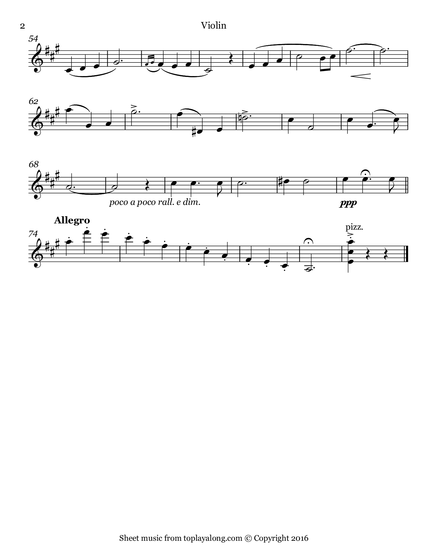 Kiss Me Again from Mlle. Modiste by Herbert. Sheet music for Violin, page 2.