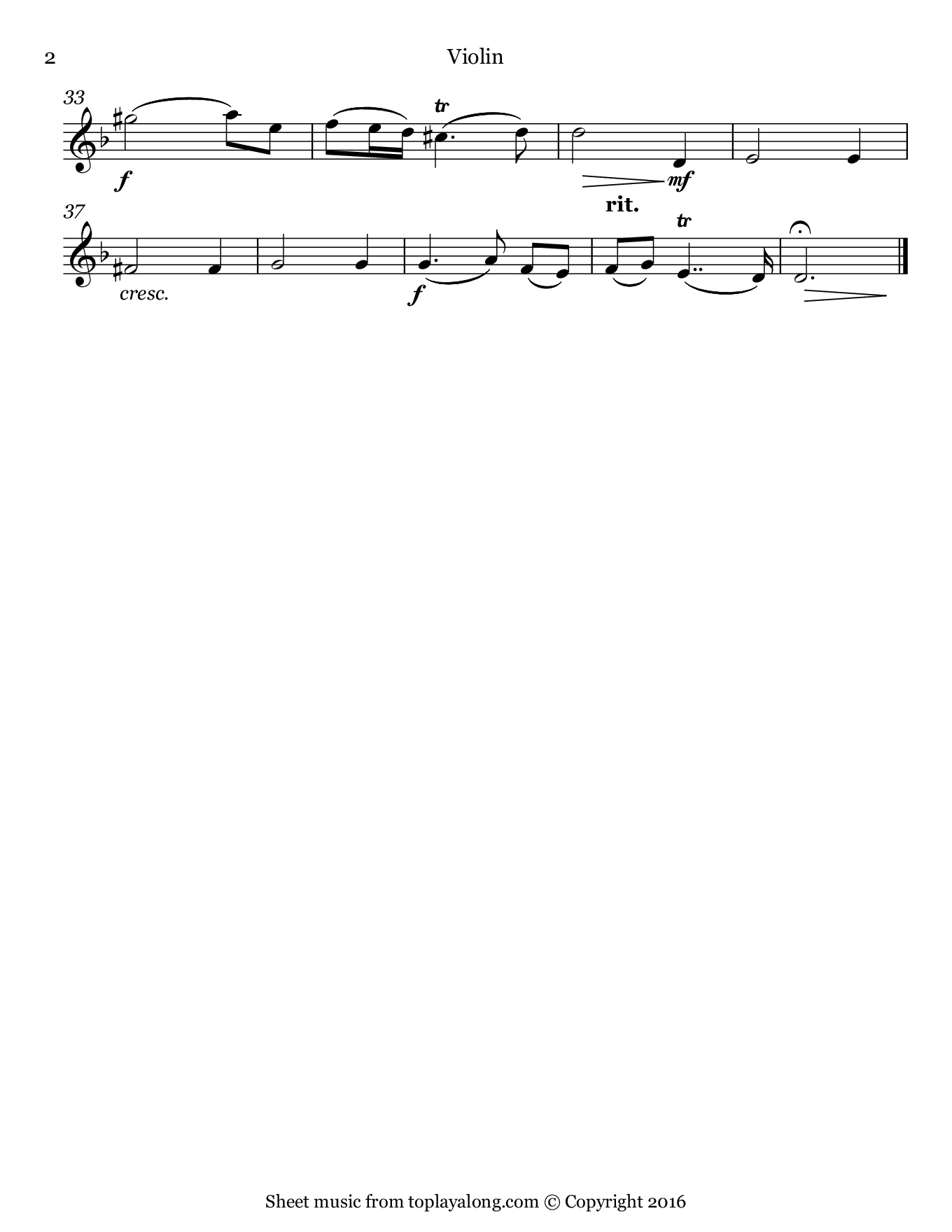 Oboe Concerto in D minor (II. Adagio) by Marcello. Sheet music for Violin, page 2.