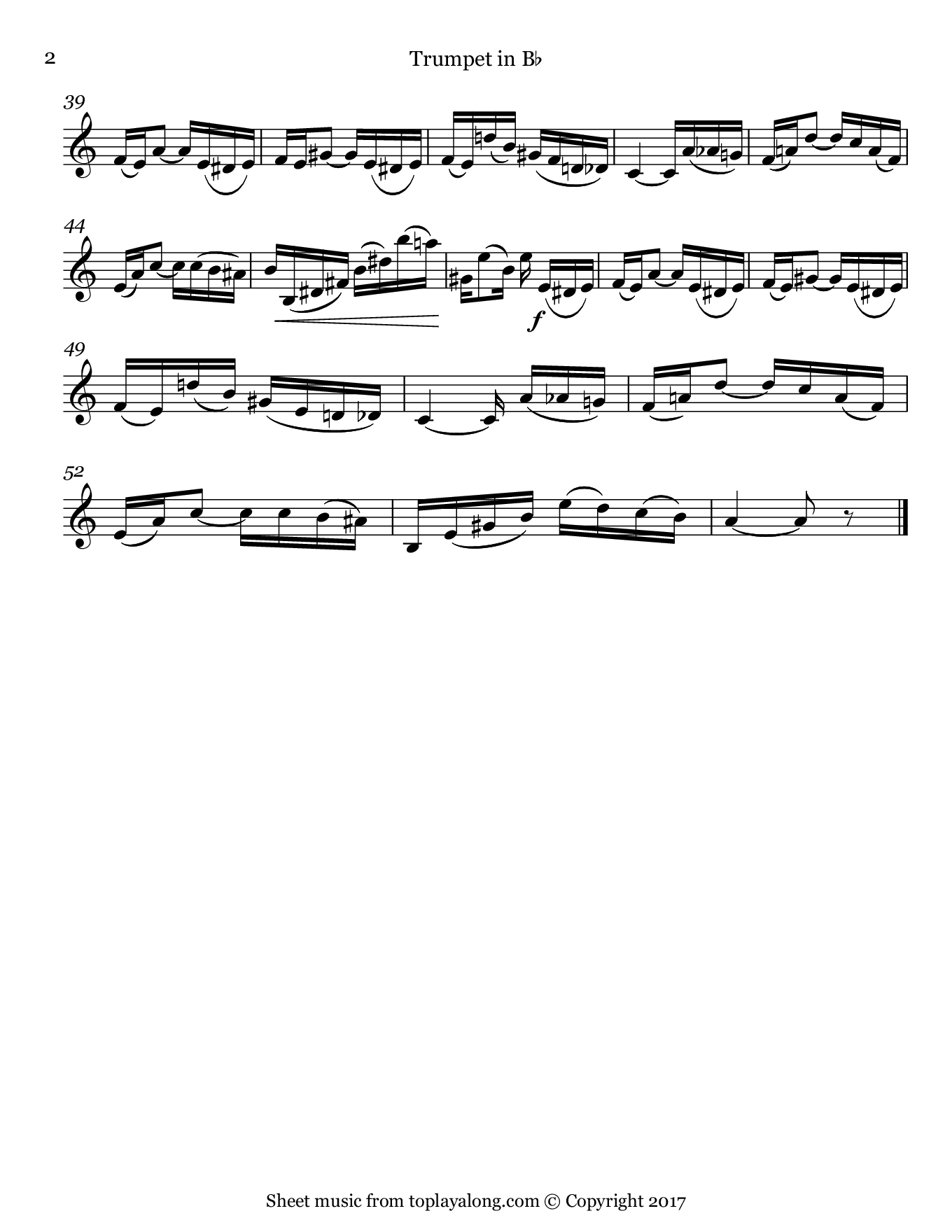 Tico-Tico no Fubá by Abreu. Sheet music for Trumpet, page 2.